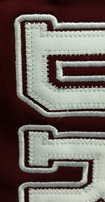 Detail of our Tackle Twill  Sample of: Satin Stitch & Zig-Zag Stitch