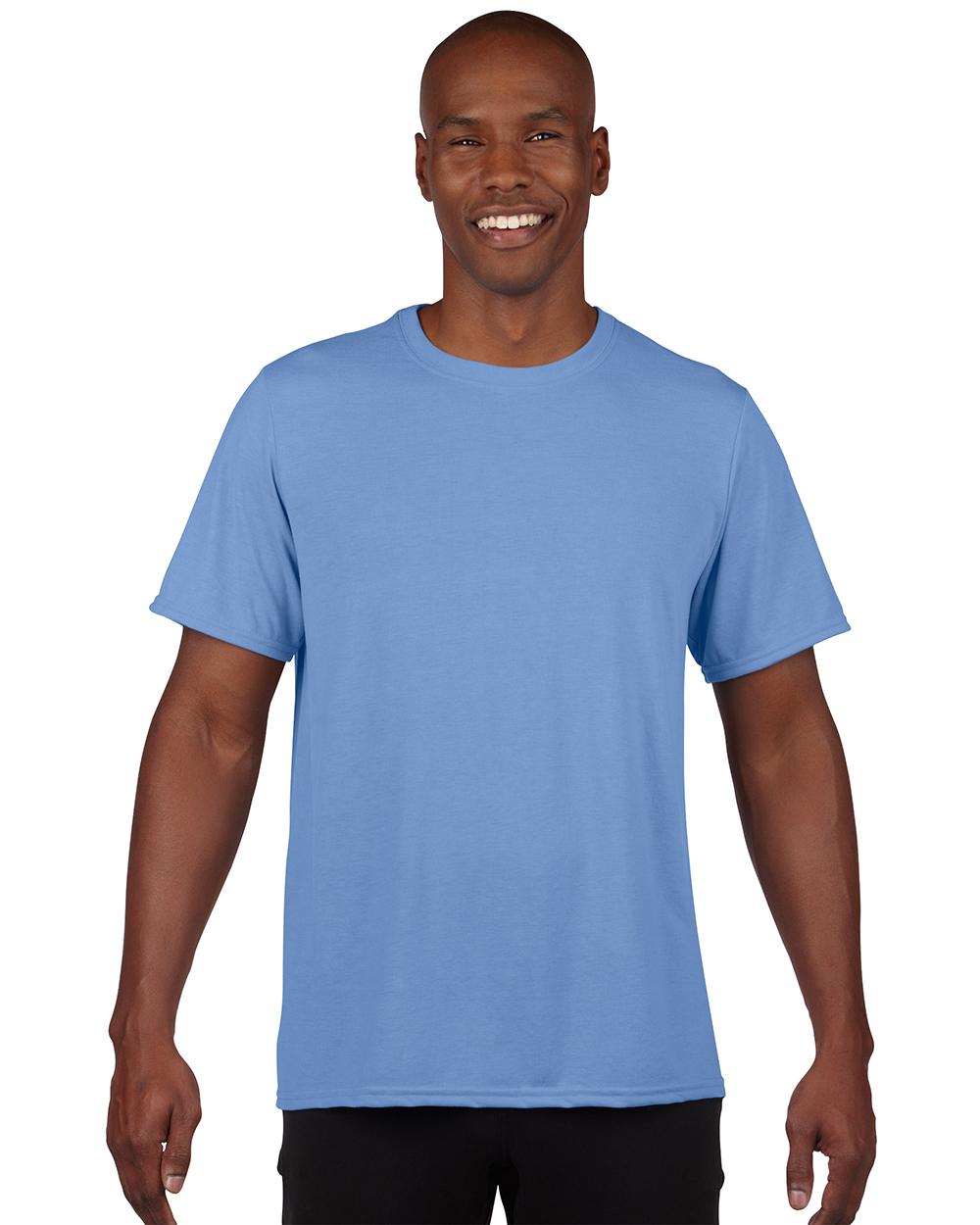 Gildan 42000     Adult Performance    4.5 oz. 100% Polyester (Cotton Feel)