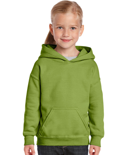 Gildan 18500B     Classic Fit Youth Hooded Sweatshirt    50% Cotton / 50% Polyester Fleece