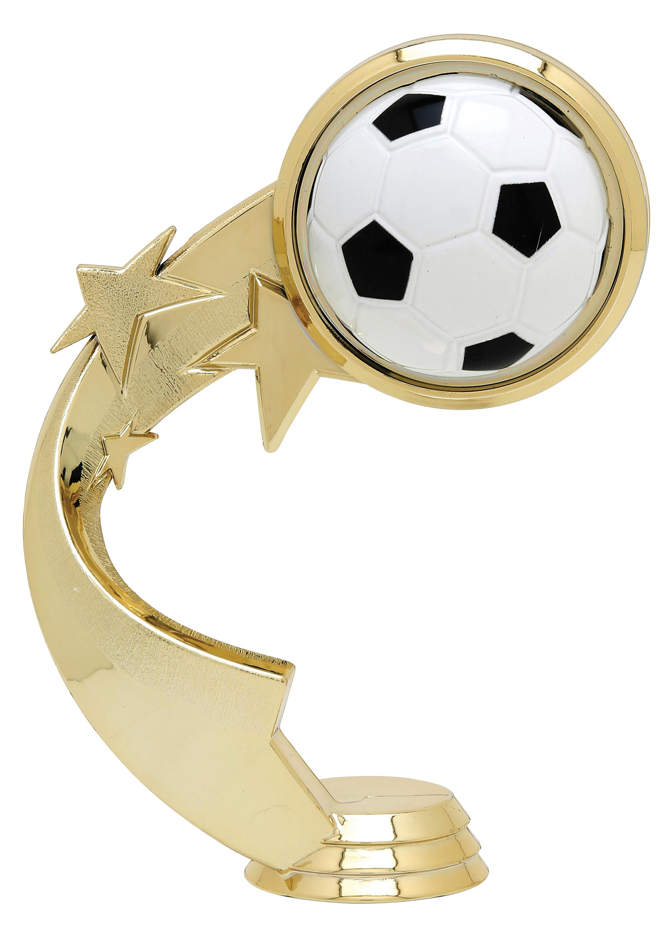 """Ribbon Star Soccer   5515-G - 5.25"""" tall"""