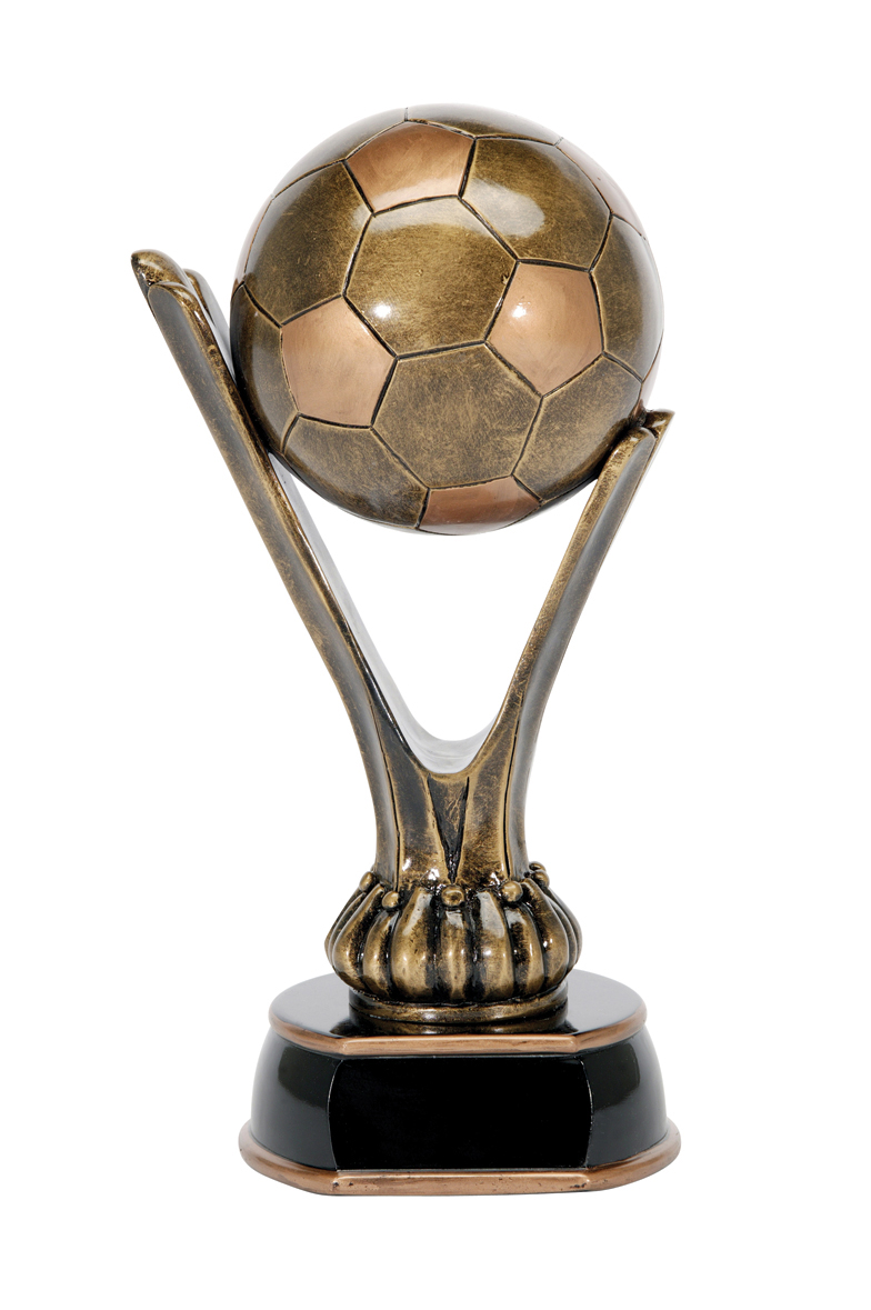 """Soccer Cup Trophy   XX-Large - not available  X-Large - 90301GS - 15"""" tall  Large - 90302GS - 12"""" tall  Medium - 90303GS - 7.5"""" tall  Small - not available"""