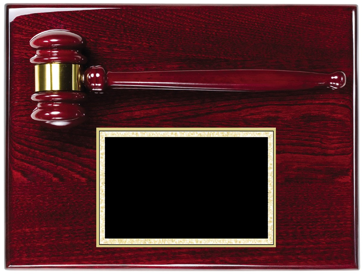 """AGP-30 - Rosewood Piano Finish   Plaque size: 9"""" x 12""""   Price = $91 (Includes engraved plate)"""