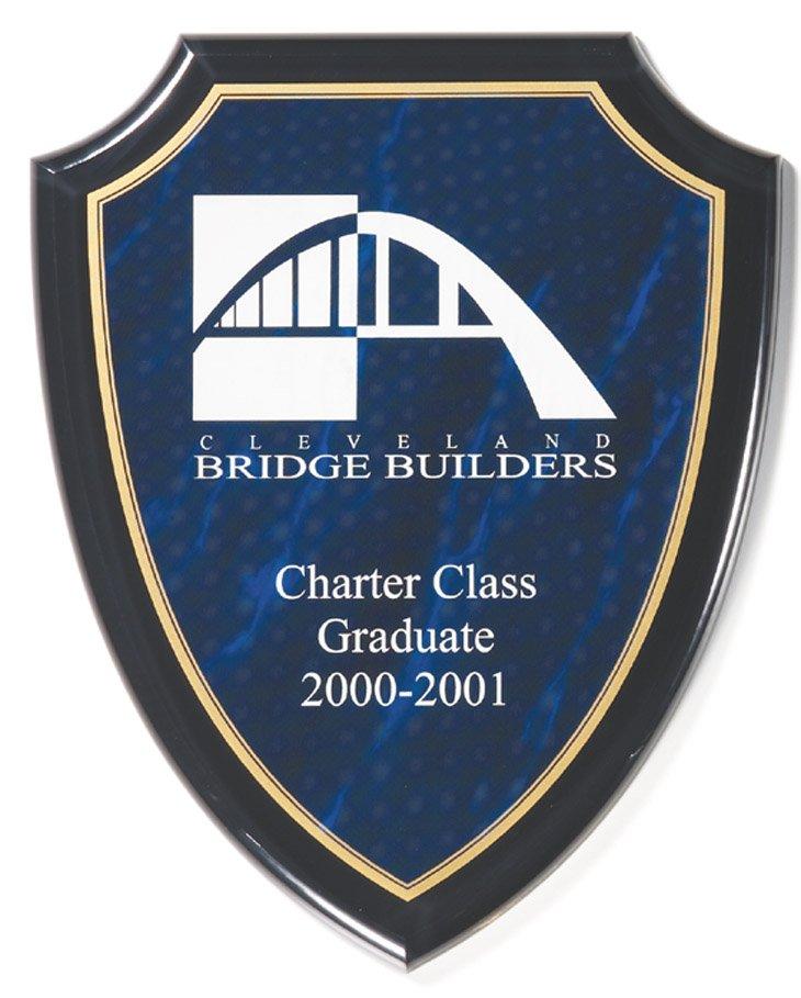 """Blue Marble Shield   8"""" x 10"""" - CP750-B -  $77"""