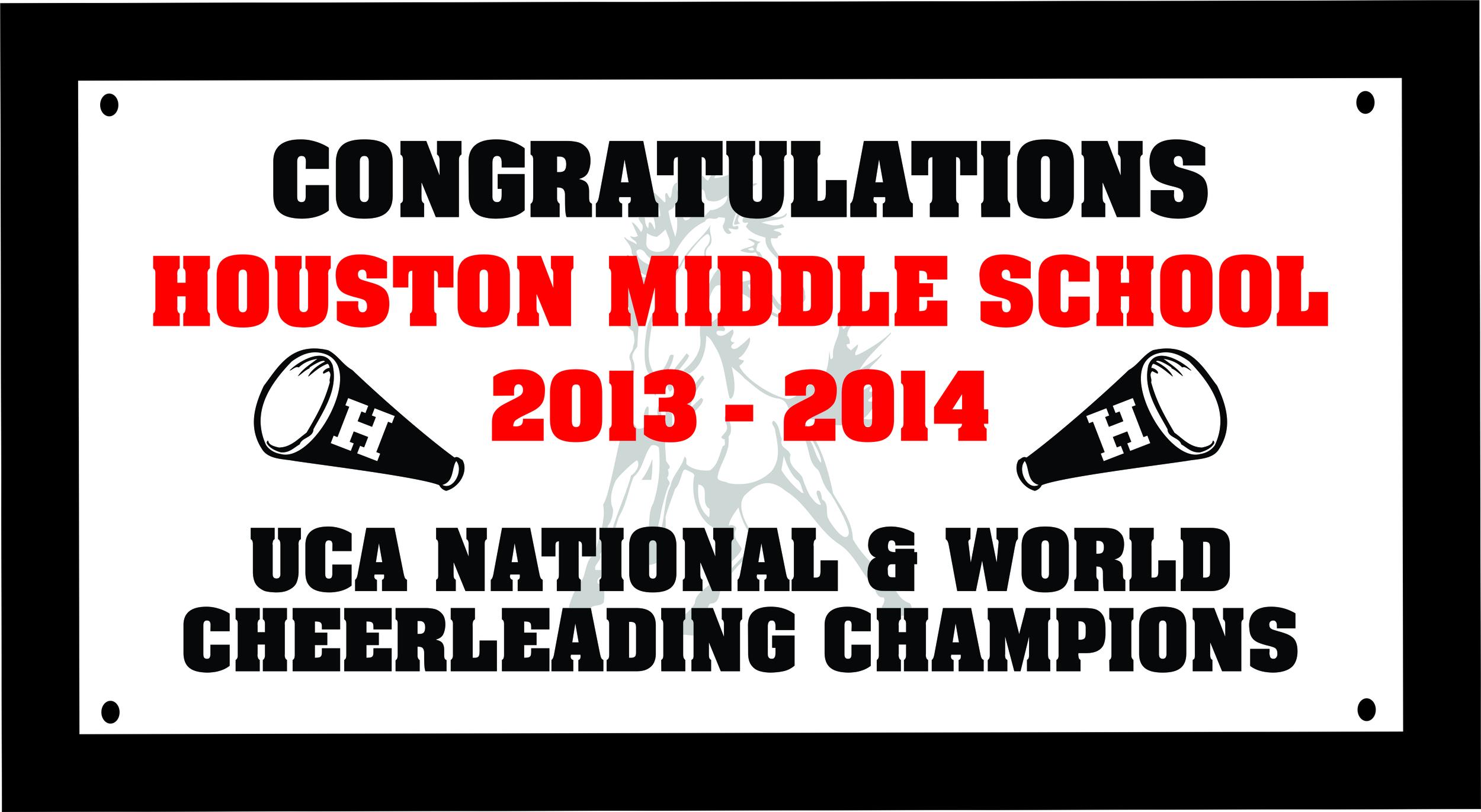 Houston Middle School 3x6 Digital Banner