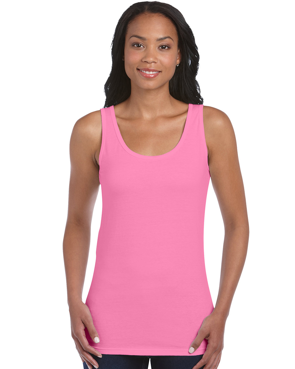 Gildan 64200L     Softstyle Junior Fit Ladies Tank Top    4.5 oz. 100% Cotton