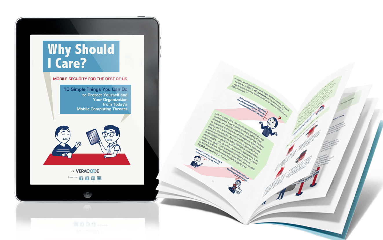 Graphic Designer: Educational eBook & Print   Designed layout & illustrated characters/infographics for a client's educational/marketing campaign. Formatted for both print pamphlet & responsive eBook publication.  Client: CA Veracode