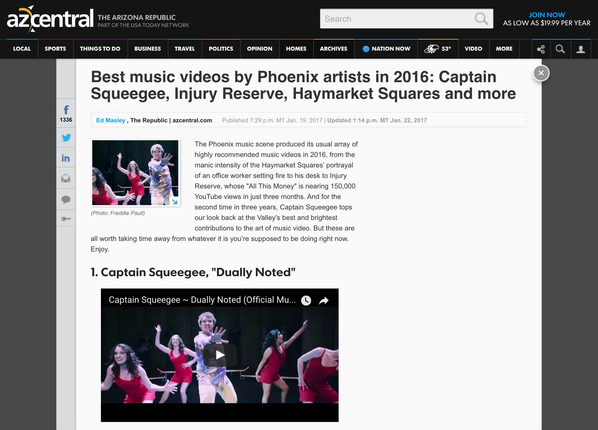 AZ Central - 2016 Best Music Video