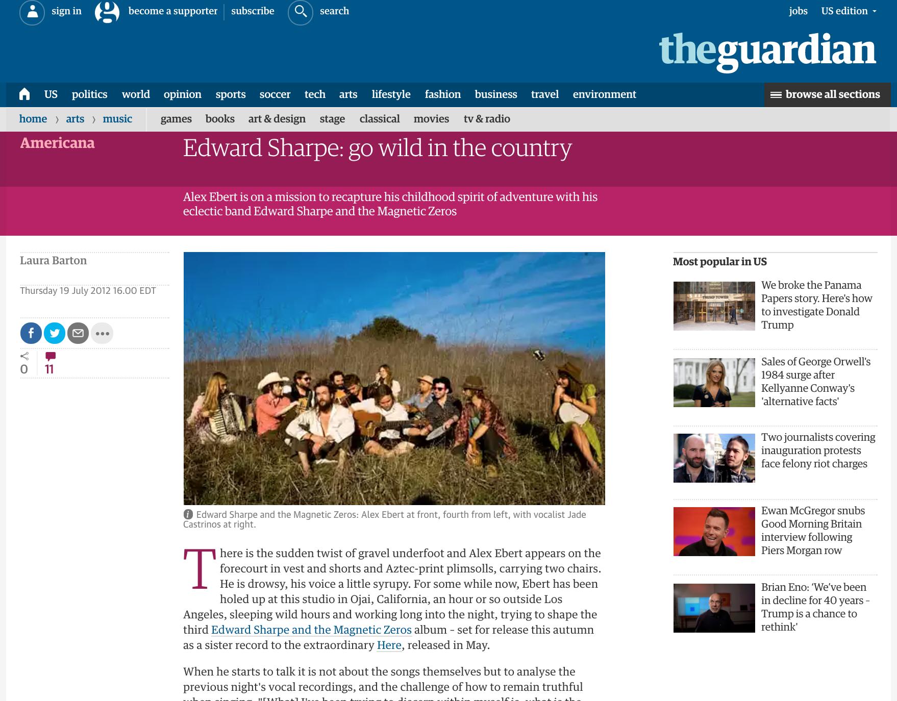 The Guardian - Edward Sharpe