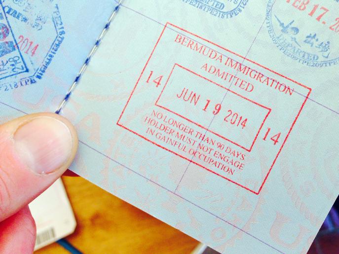 Bermuda Immigration Stamp