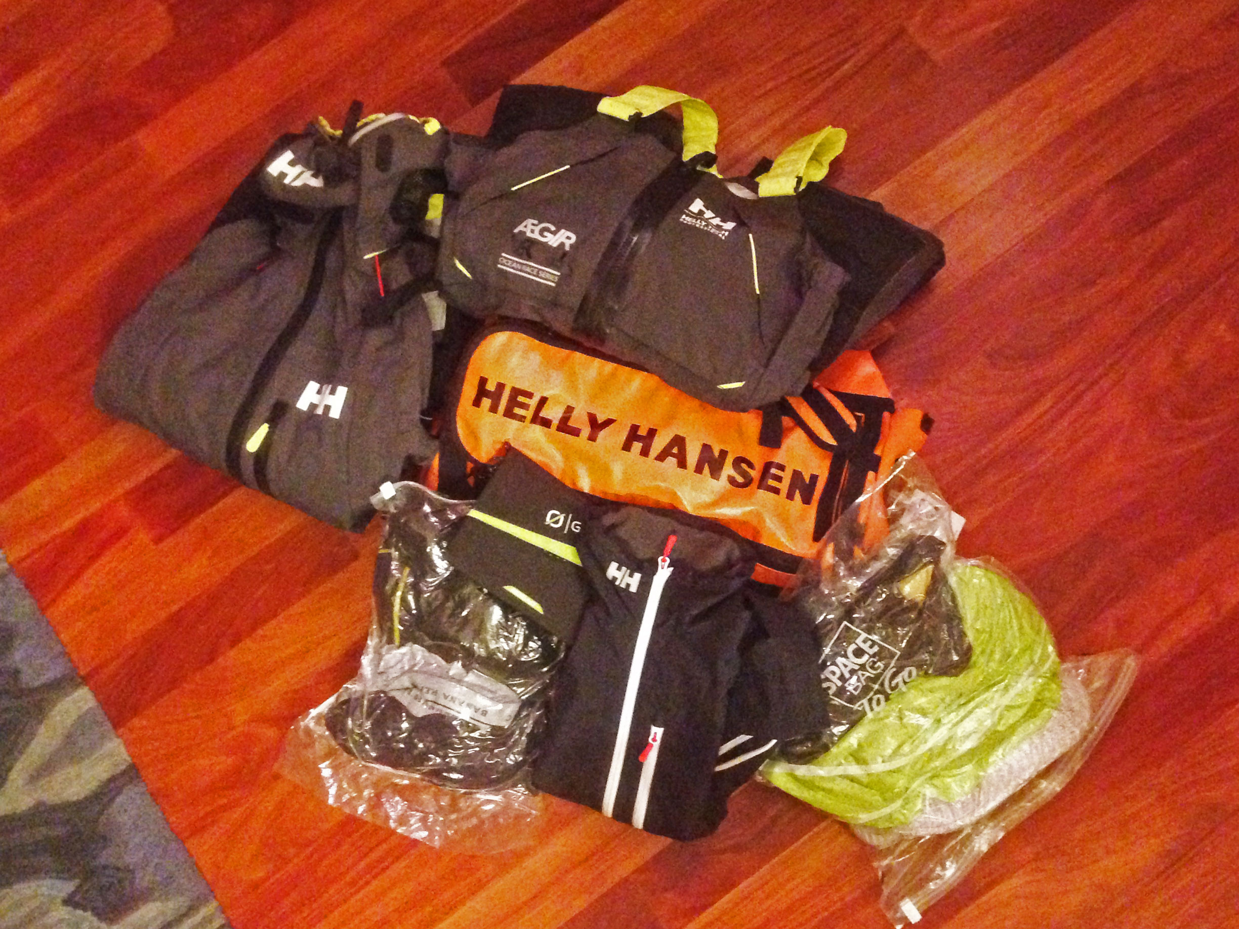 HH 30L duffel.  Check.  HH Aegir offshore kit.  Check.  Base layers sealed up.  Check.