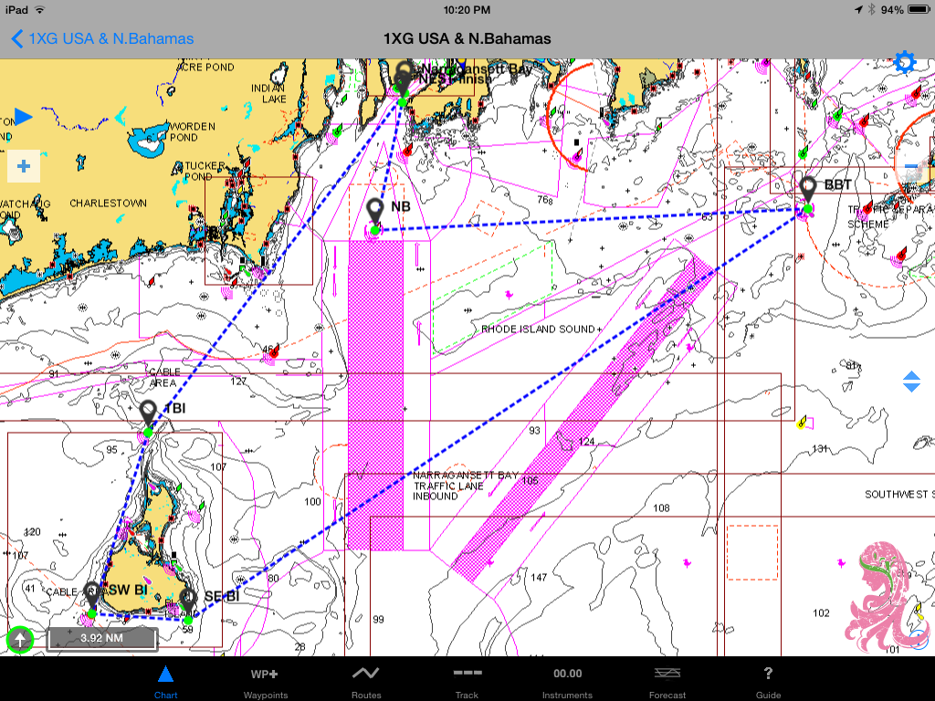 New England Solo/Twin 77.2 nm course