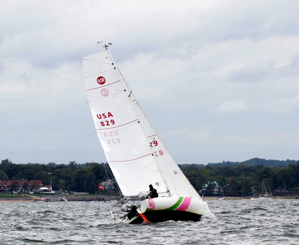 Solo racing on Long Island Sound