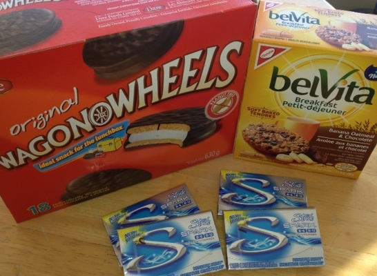 Wagon Wheels $3.99  Belvita Cookies $2.49  Gum .89c  Paid $9.04 including Checkout 51  Saved $10.00