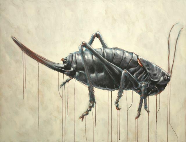 "Anabrus Simplex I    48 x 36"" Acrylic on canvas   2013"