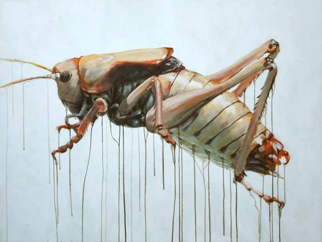 "Anabrus Simplex IV    48 x 36"" Acrylic on canvas   2013"