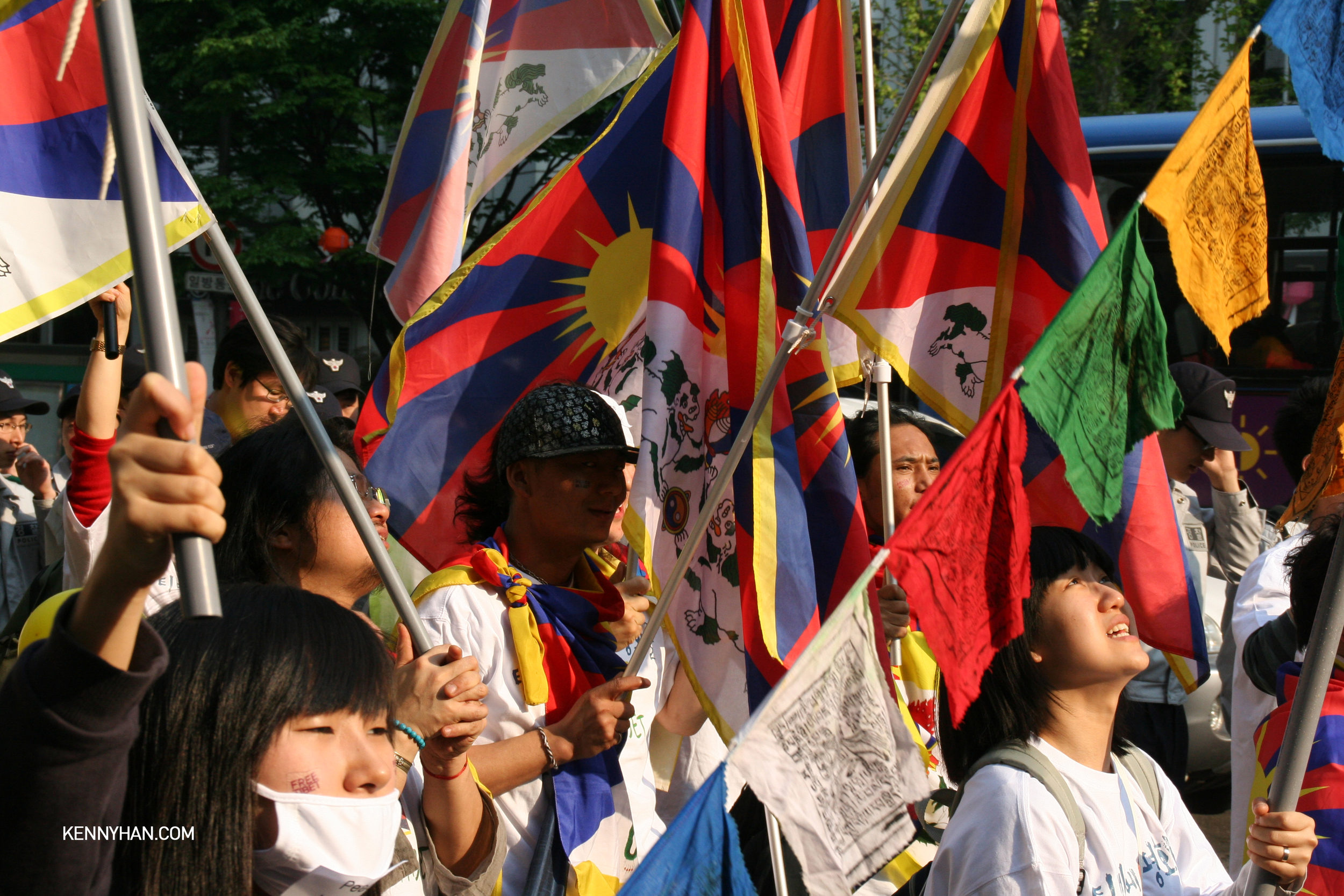 Tibetan independence movement rally in Seoul, South Korea ca.2008