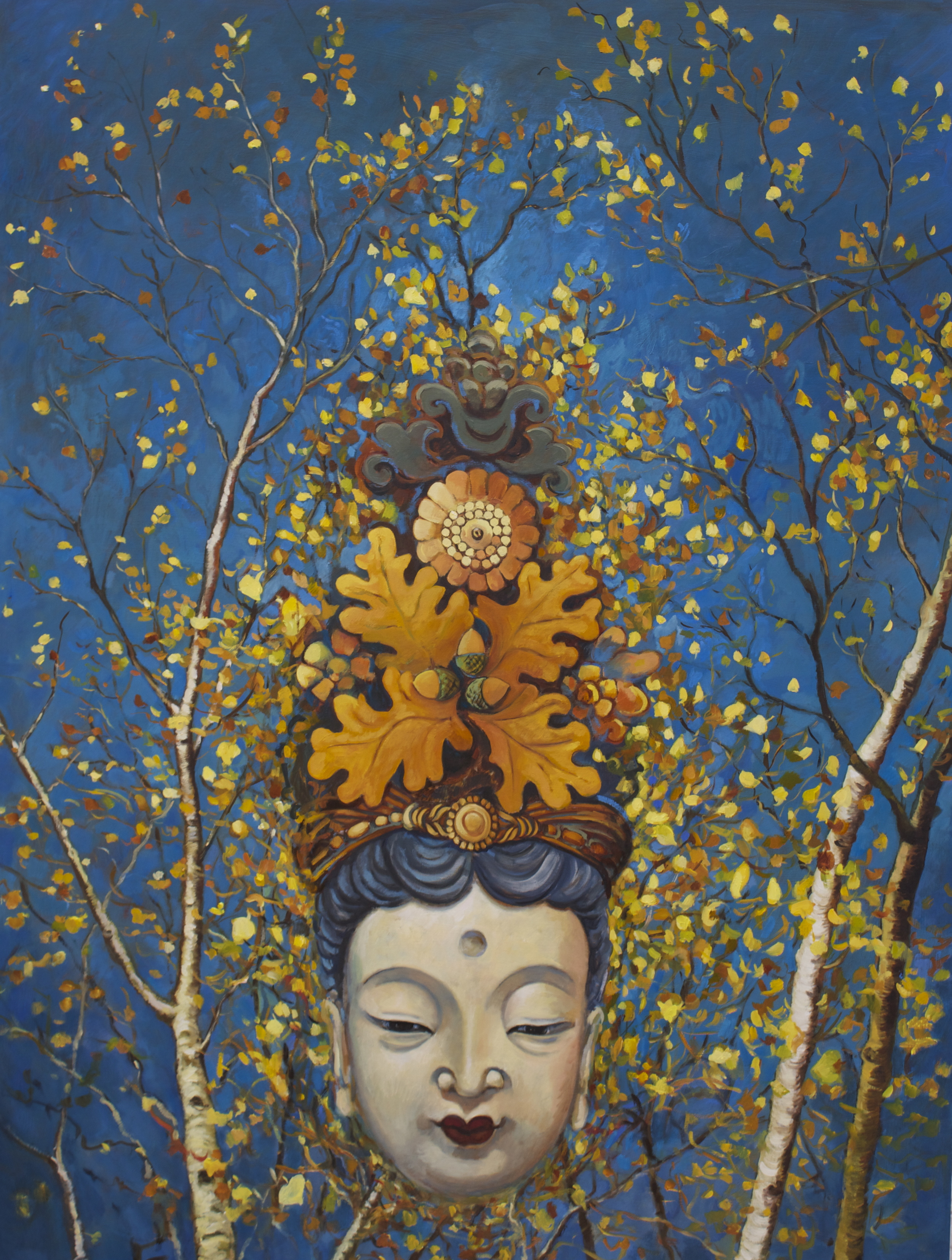 Autumn Goddess   oil on panel 125x95cm