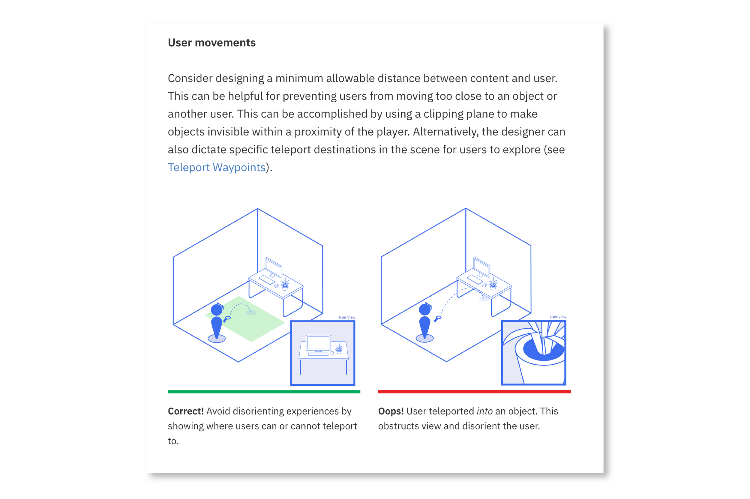 We create illustrations to show clear examples of best practices.