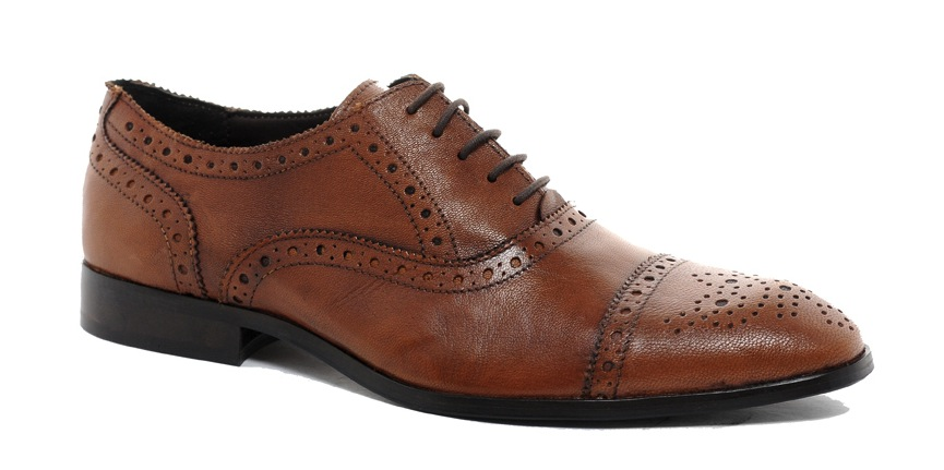ASOS Brogue Toe Cap Shoes in Leather, on sale for $37.04 at  ASOS .
