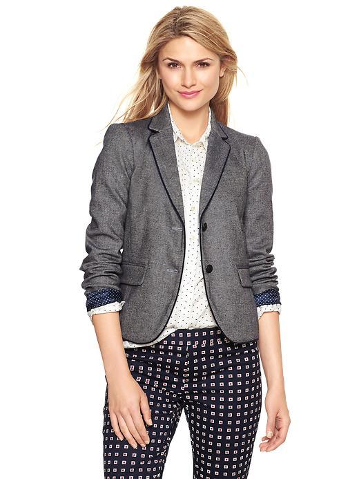 Tweed academy blazer, $74.99 at Gap