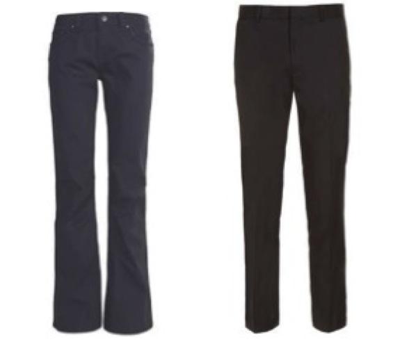 (Left)  Women'sMarmot Rock Spring Pigment Cord Pants  (Right)  Topman Charcoal Skinny Suit Pants *