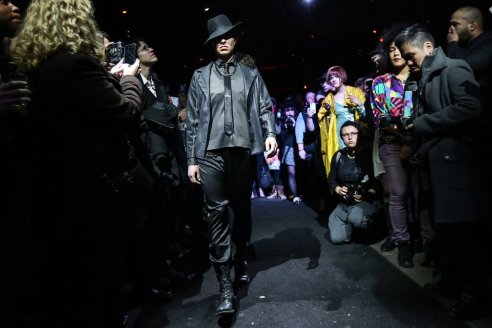 Model   Kiersten Schilinski     wearing Designer Angie Chuang