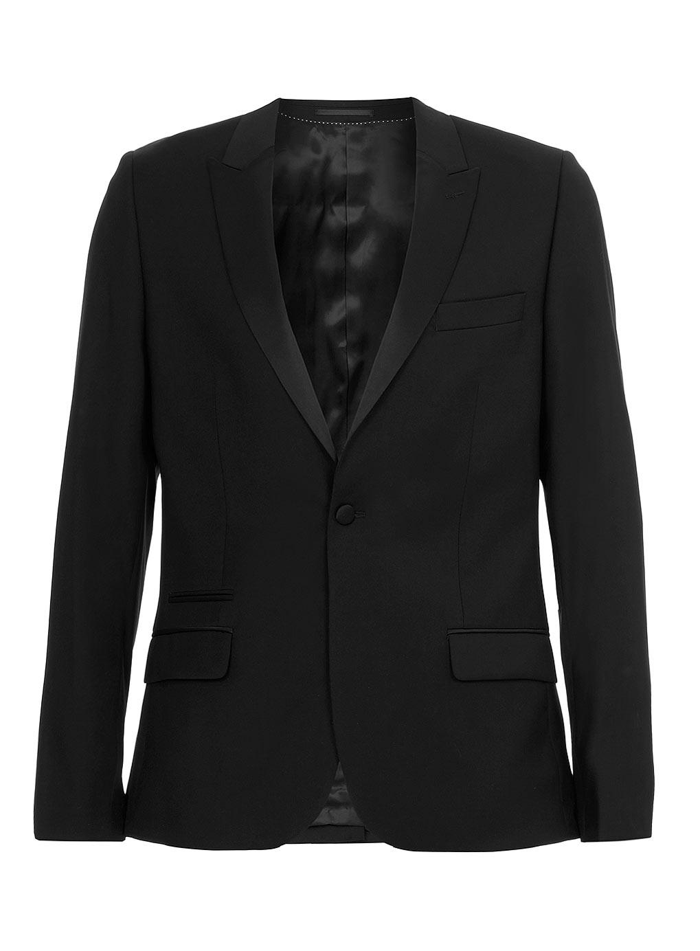 Black Niven Tux Skinny Suit Jacket, $300 at  Topman *