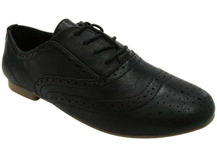 Madden Girl Tremor Black Vegan Oxford Shoes (CL), on sale for $29.40 at  Alternative Outfitters