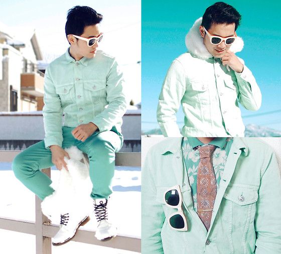 """""""MINT for each other:""""  Street meets dapper with a beautiful twist on the monochrome trend."""