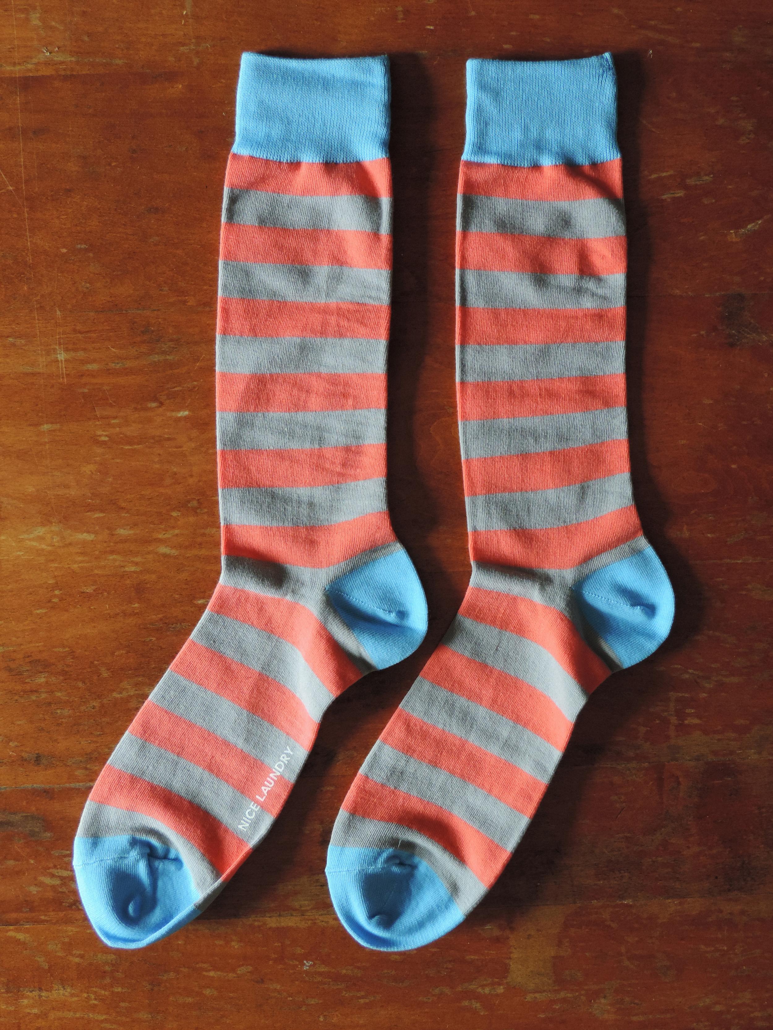 Nice Laundry Blue/Salmon Striped