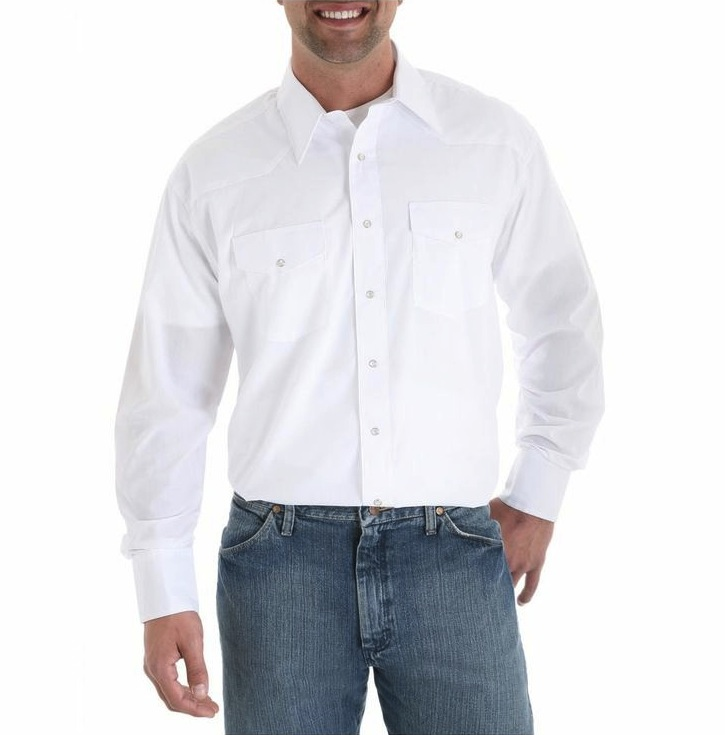 Men's Sport Western Shirt With Snaps, $20.95 at  Wrangler