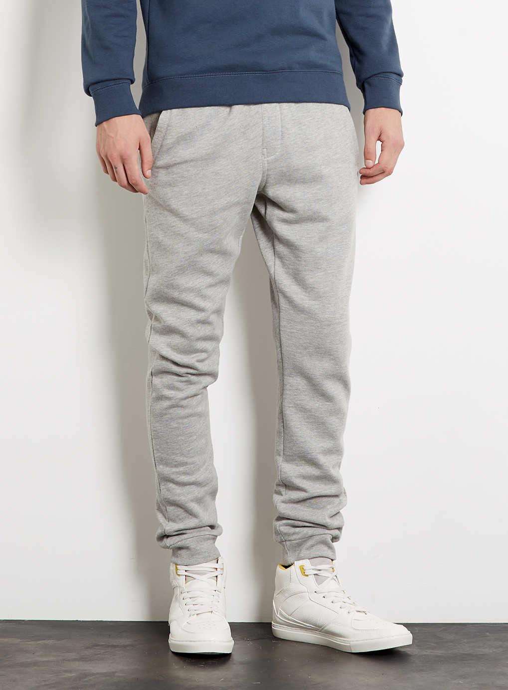 Grey Marl Skinny Sweatpants, $40