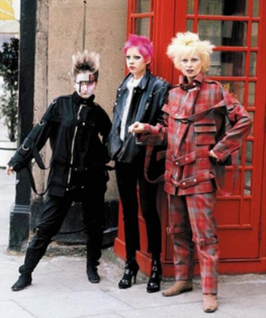 Image of Punk progenitor and renown couturier Vivienne Westwood in London.