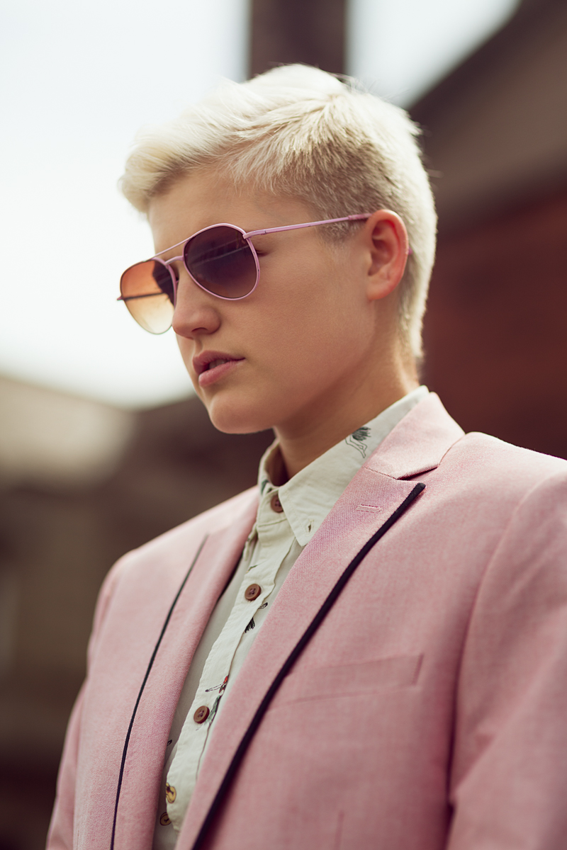 I love the soft subtlies of color in the outfit and the model's hair. | From: unknown