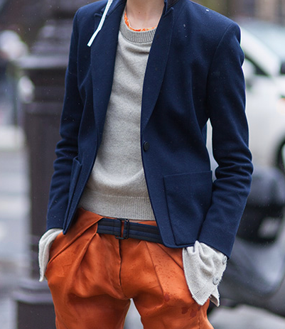 I love what's going on with these pants. | From: lacooletchic.tumblr.com