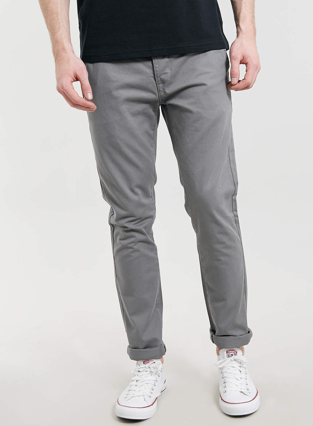 Mid Grey Skinny Chinos, now $40