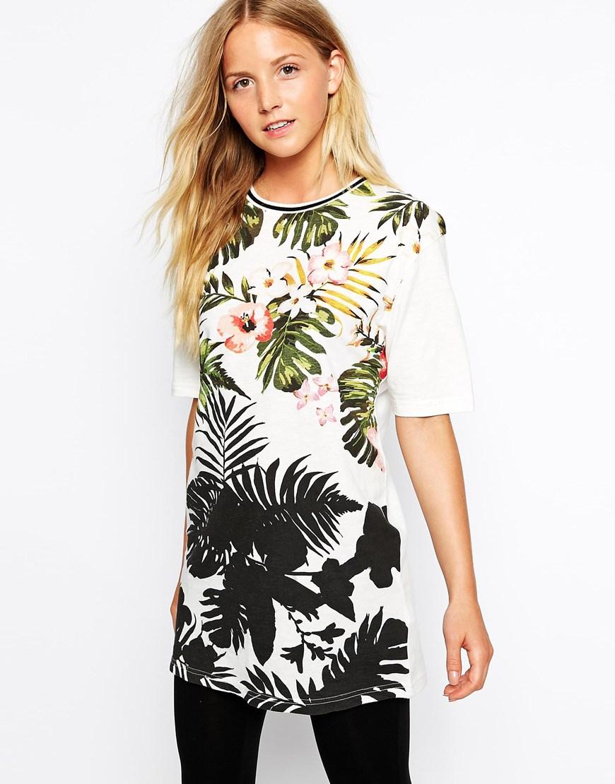 ASOS  New Look Tropical Boyfriend T-Shirt,$28.56