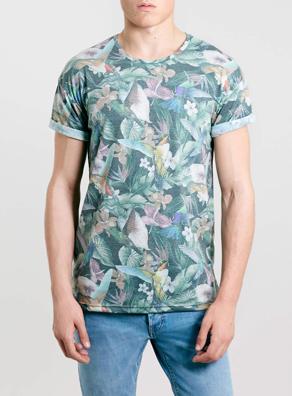 Tropical Birds Roller T-shirt, $40 at Topman *