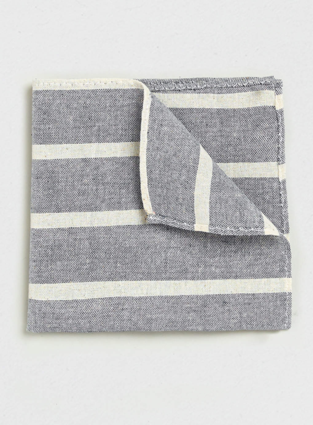 Topman Blue Thick Stripe Pocket Square    Was $10.00,  now $5.00