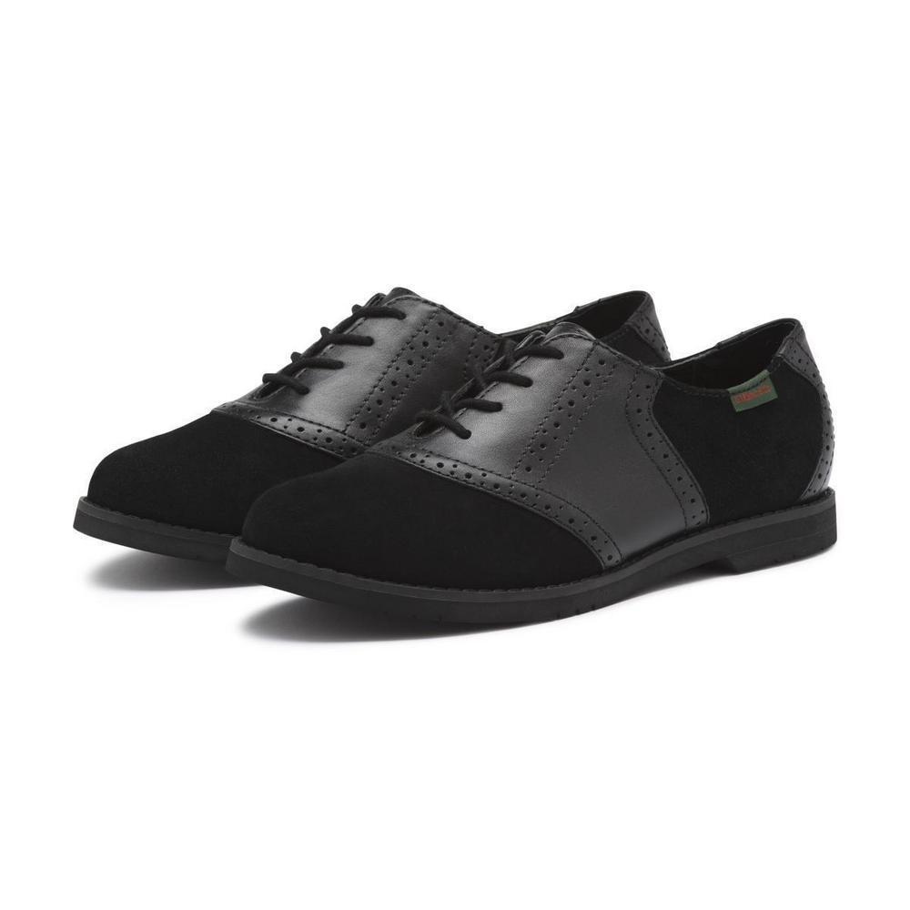 Elaina Suede Saddle Shoe, Bass, $78