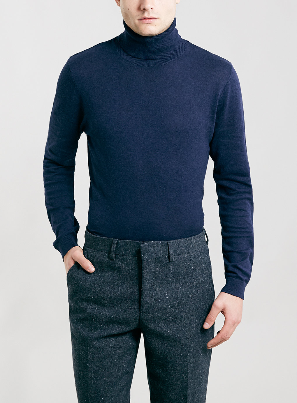 Deep Violet Roll Neck Sweater , was $40,  now $32