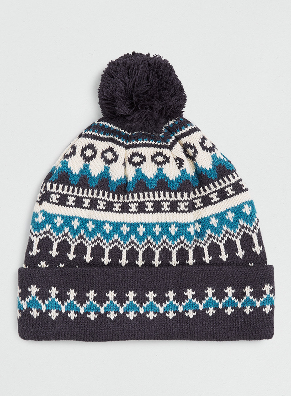 Navy and Teal Bobble Beanie , was $20 ,  now $16