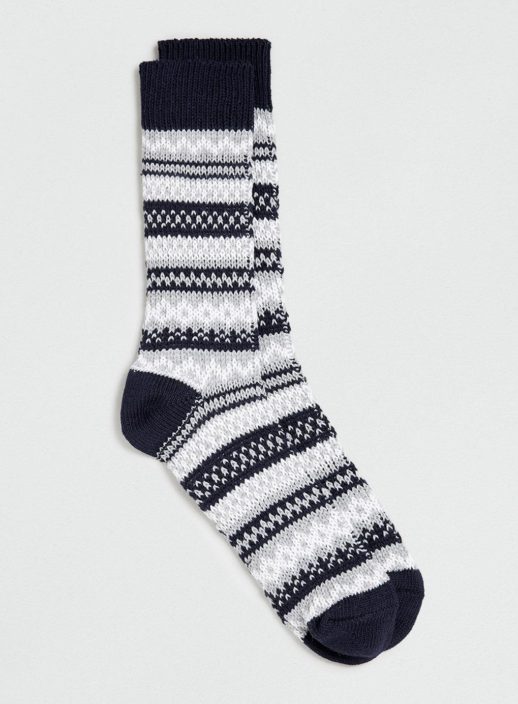 Navy Winter Fairisle Boot Socks , was $12, now  $9.60