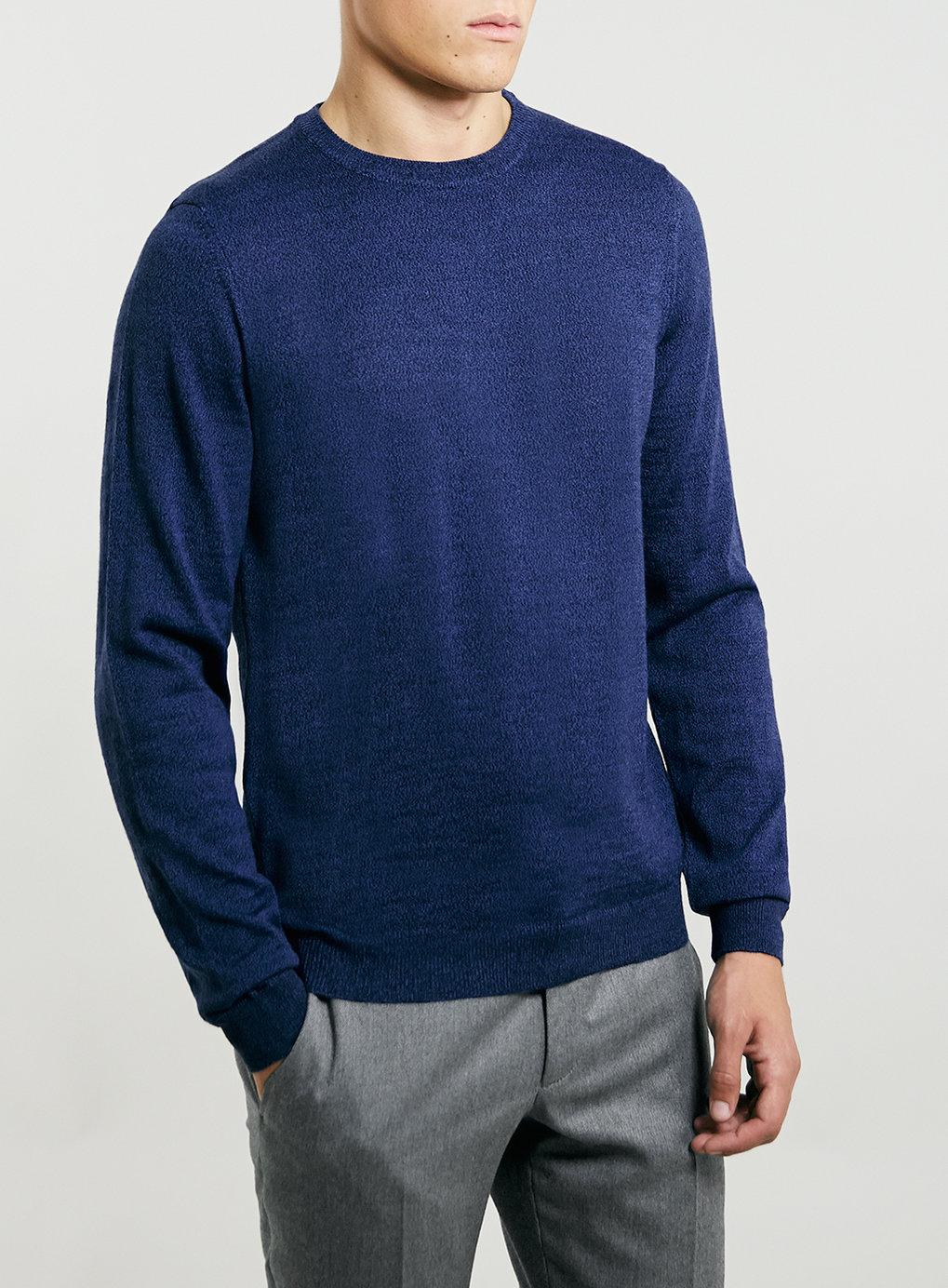 Blue/Black Merino Blend Twist Sweater , was$55,  now $44