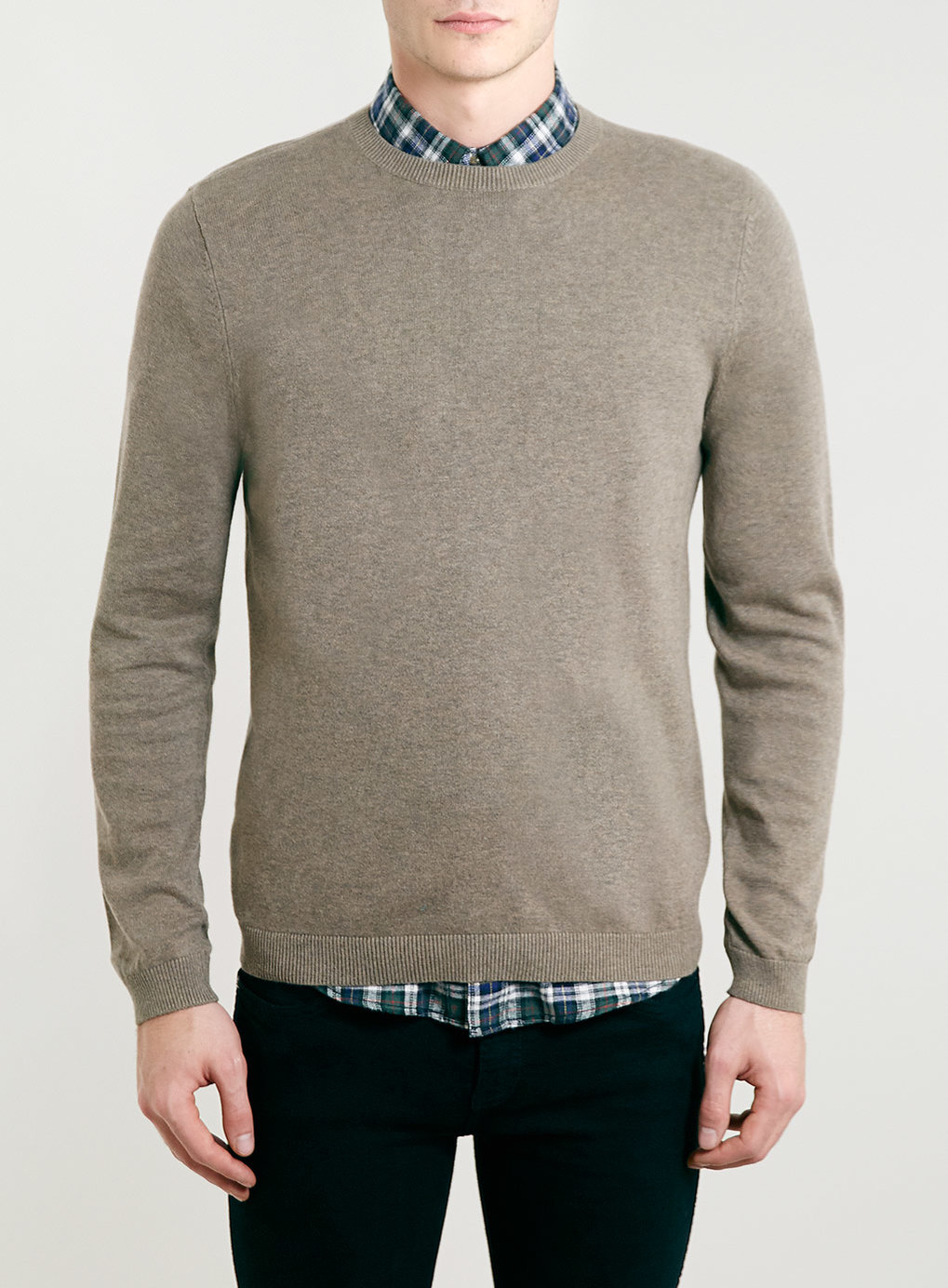 Sand Marl Classic Crew Neck Sweater , was $30,  now $24