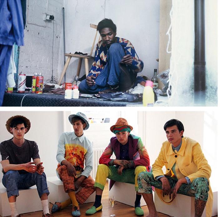 Agape Mdumulla ( top ) and models wearing Agi & Sam ( bottom )