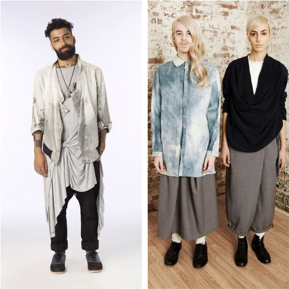 Fabio Costa ( left ) and models wearing NotEqual Pre-Fall 2013 ( right )