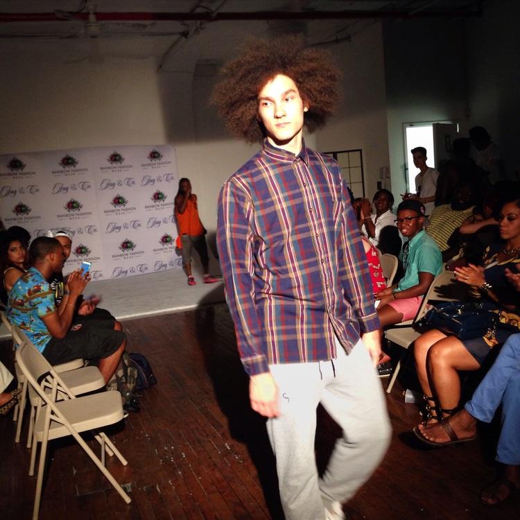 Ben Ryan-Yankowy modeling  Topman Grey Marl Drop Crotch Joggers