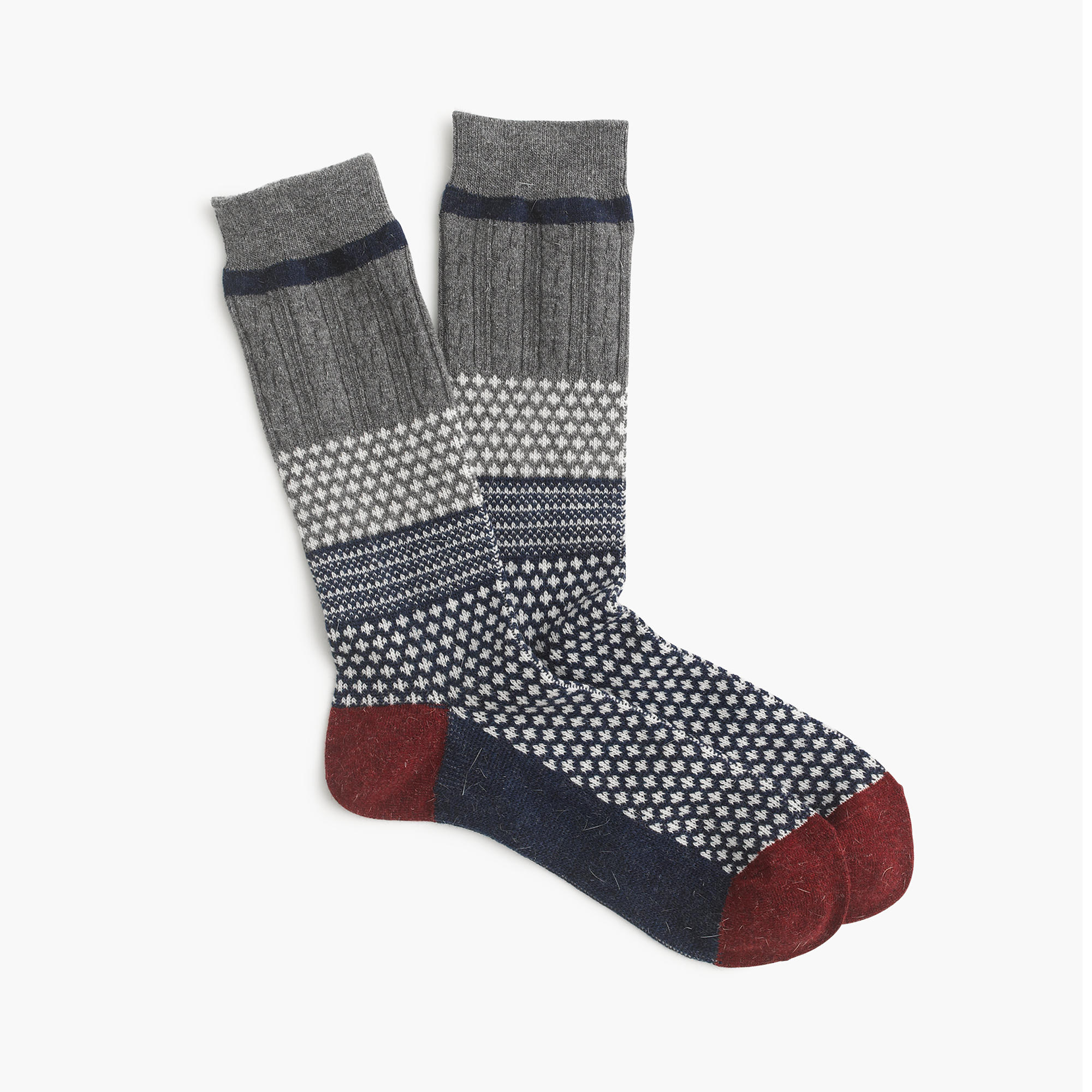 J.Crew ANONYMOUS ISM™ JACQUARD SOCKS , $28