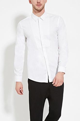 Tonal Pattern-Paneled Shirt